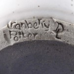 Cranberry Pottery mark, impressed script